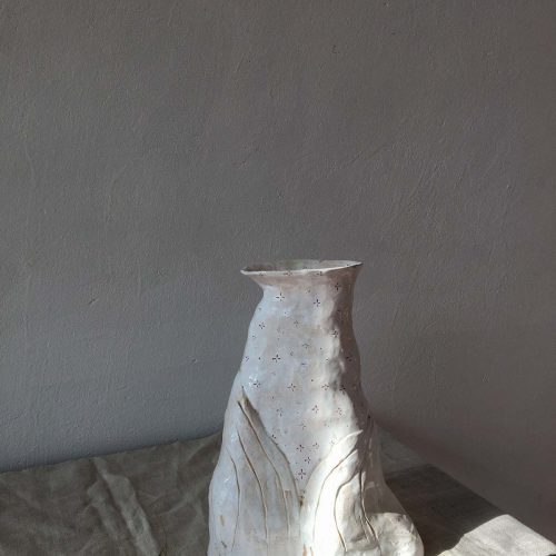 Side view - big decorative vase