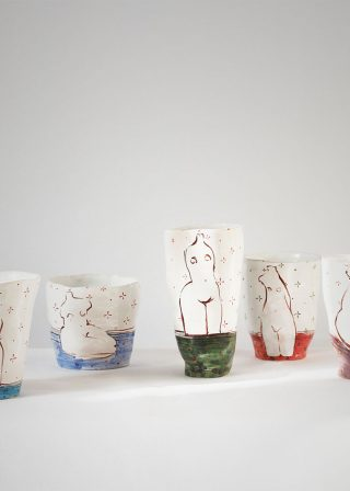 "Series decorative glasses ""Naked"" (Artistic ceramics)"