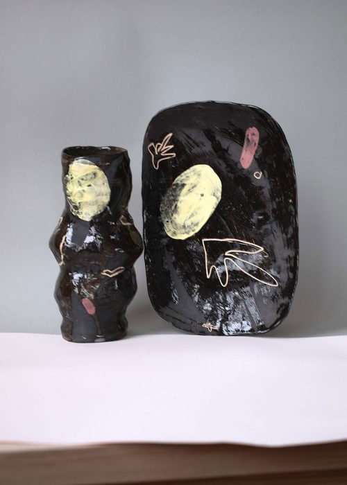 Decorative Ceramic Vase - Set ``Relaxation`` (Handmade)