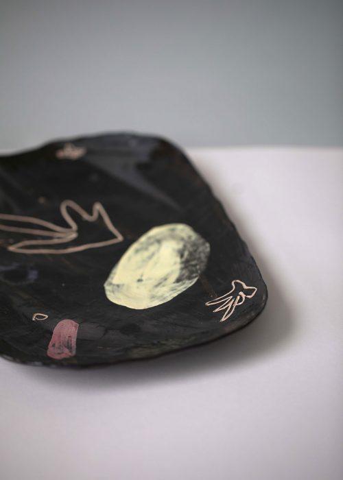 Decorative set of products ``Artistic ceramics``
