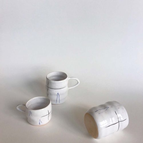 "Two cups and glass — Set ""Waves"""