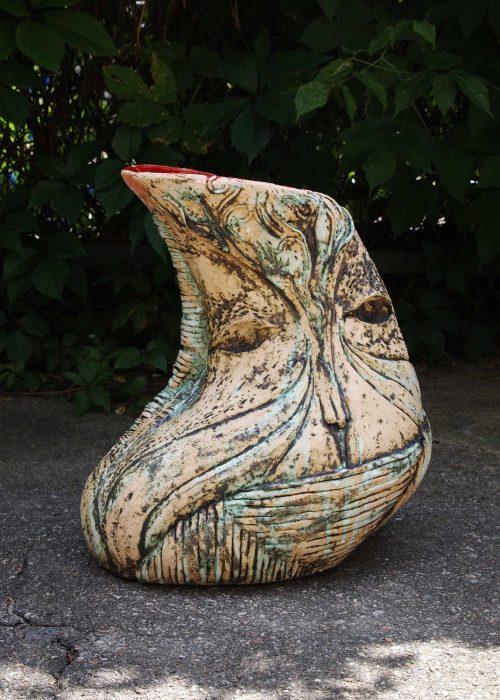 Decorative Ceramic Vase - Series ``Imagination`` (Handmade)
