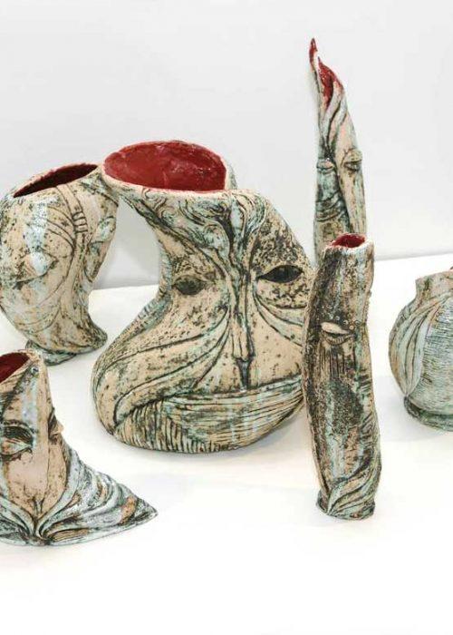 Series decorative vases ``Imagination`` (Artistic ceramics)