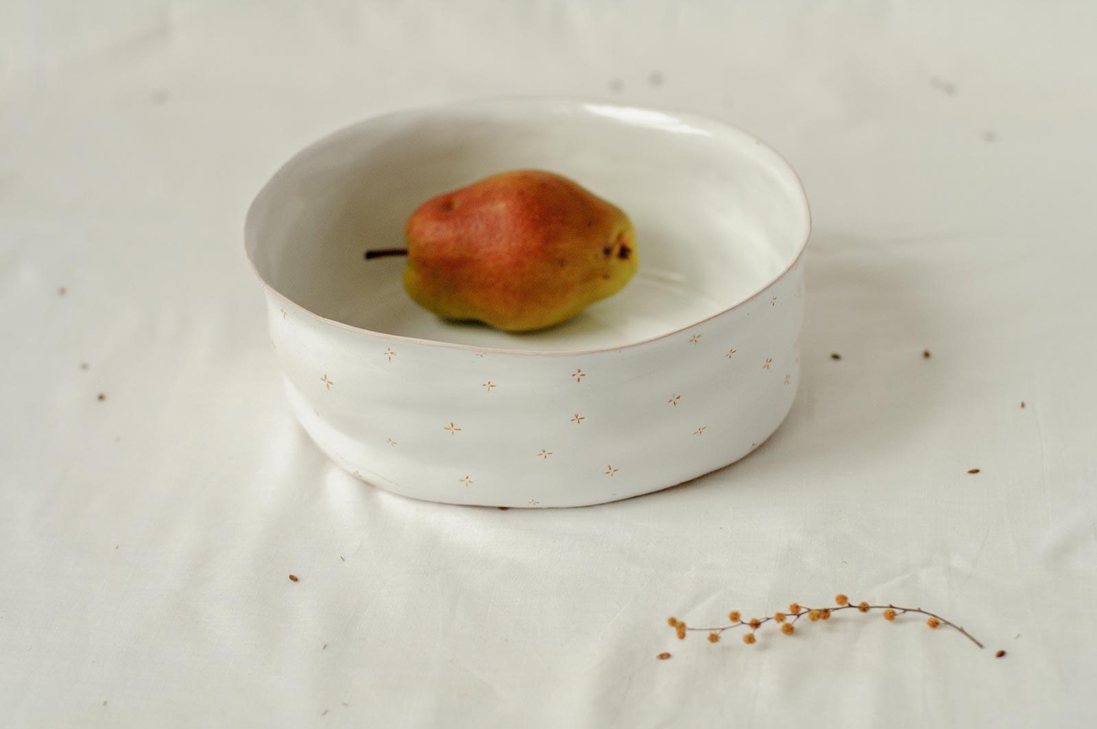 Decor - Big deep plate from ceramics