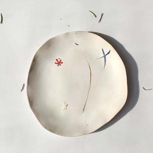 Top view - Plate from ceramics