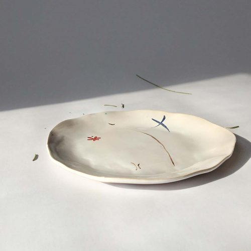 """Round plate """"Composition No. 3"""""""