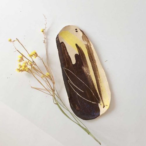 Front view - Big oval plate (Handmade)