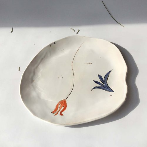"Top view - Plate from ceramics ""Composition No. 4"""