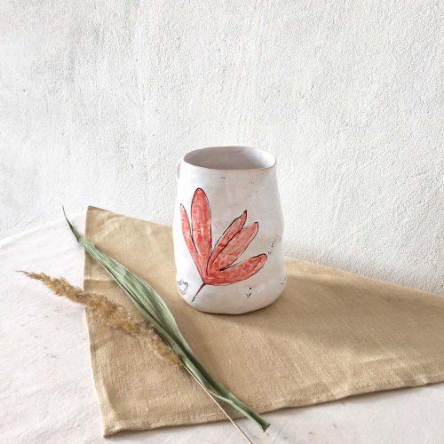 Ceramic jug - side view