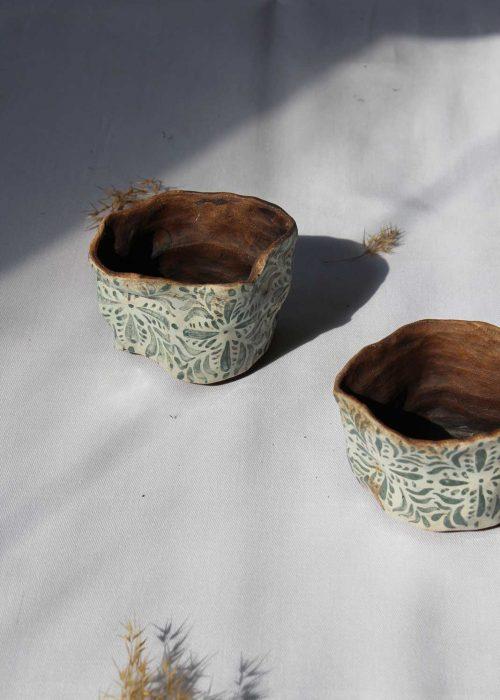 Set of decorative flower pots (Artistic ceramics)