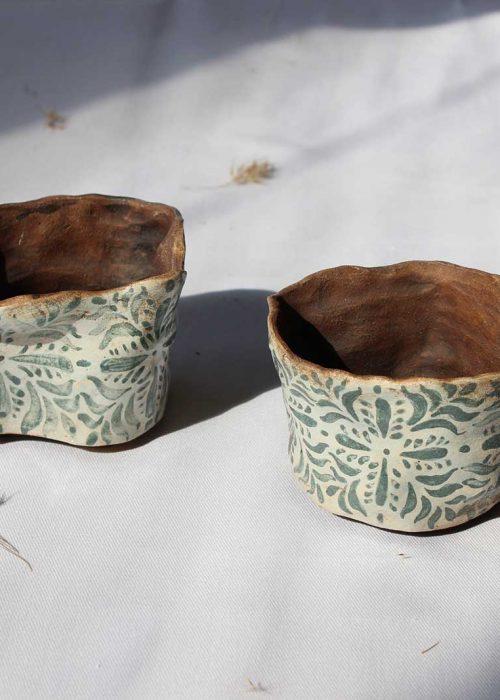 Decorative pots for flowers from ceramics (Handmade)