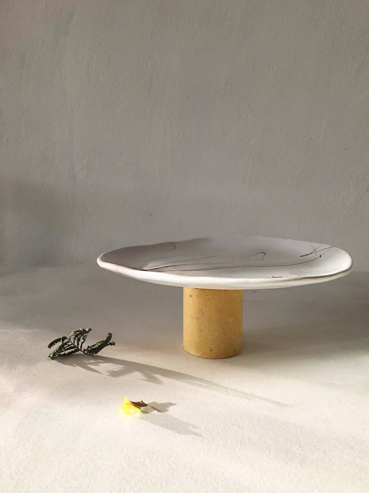 Side view - Plate handmade