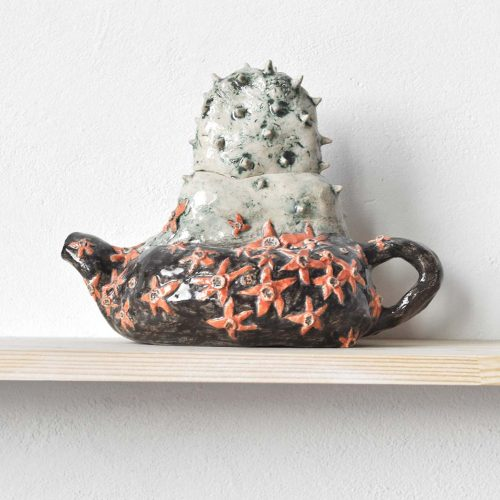 Rear view - Decorative teapot (Handmade)