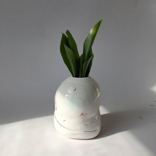 Side view - Decorative vase for flowers (Handmade)
