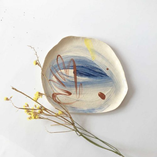 Front view - Big decorative plate (Handmade)