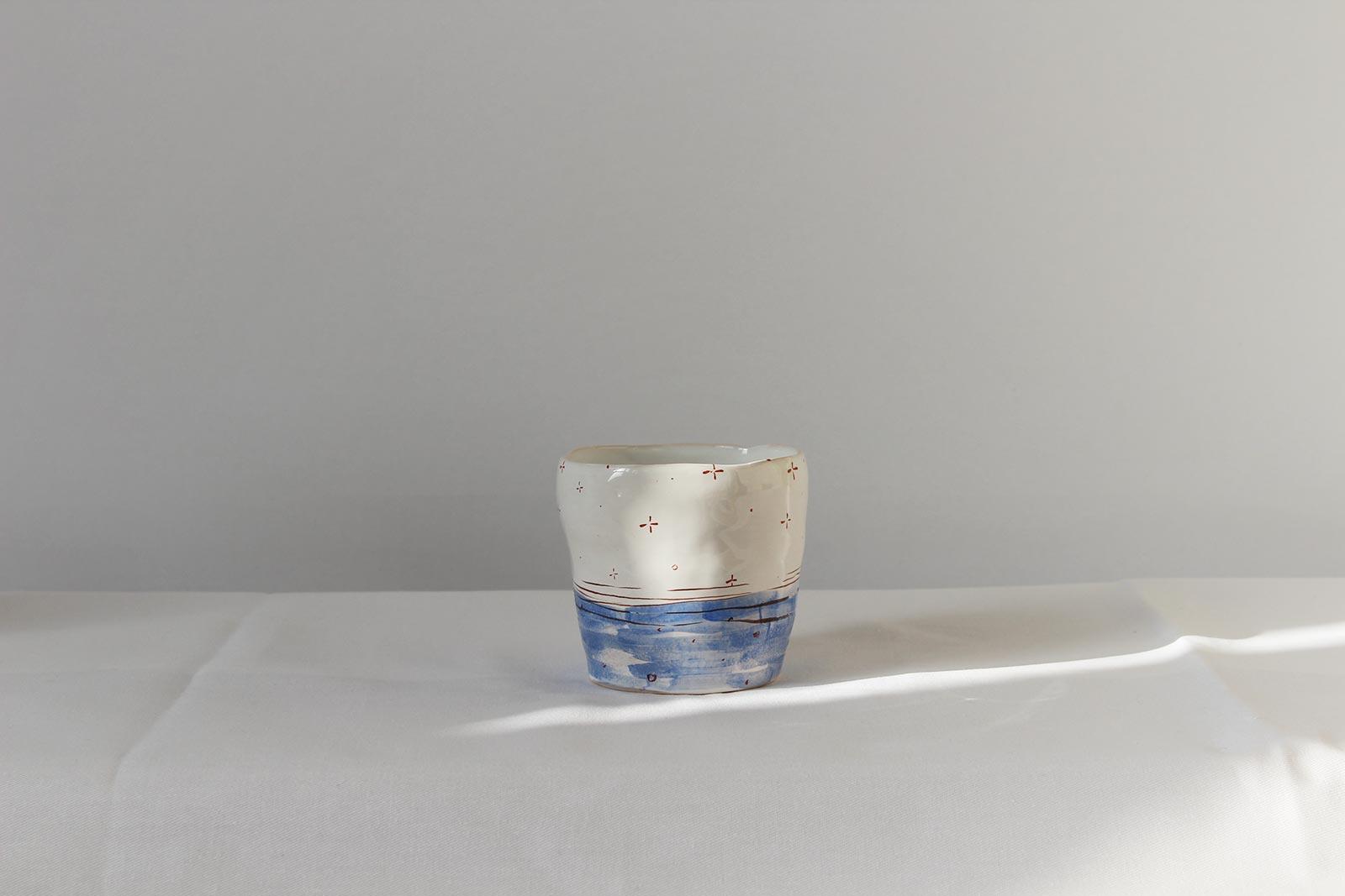 Rear view - Decorative glass (Handmade)