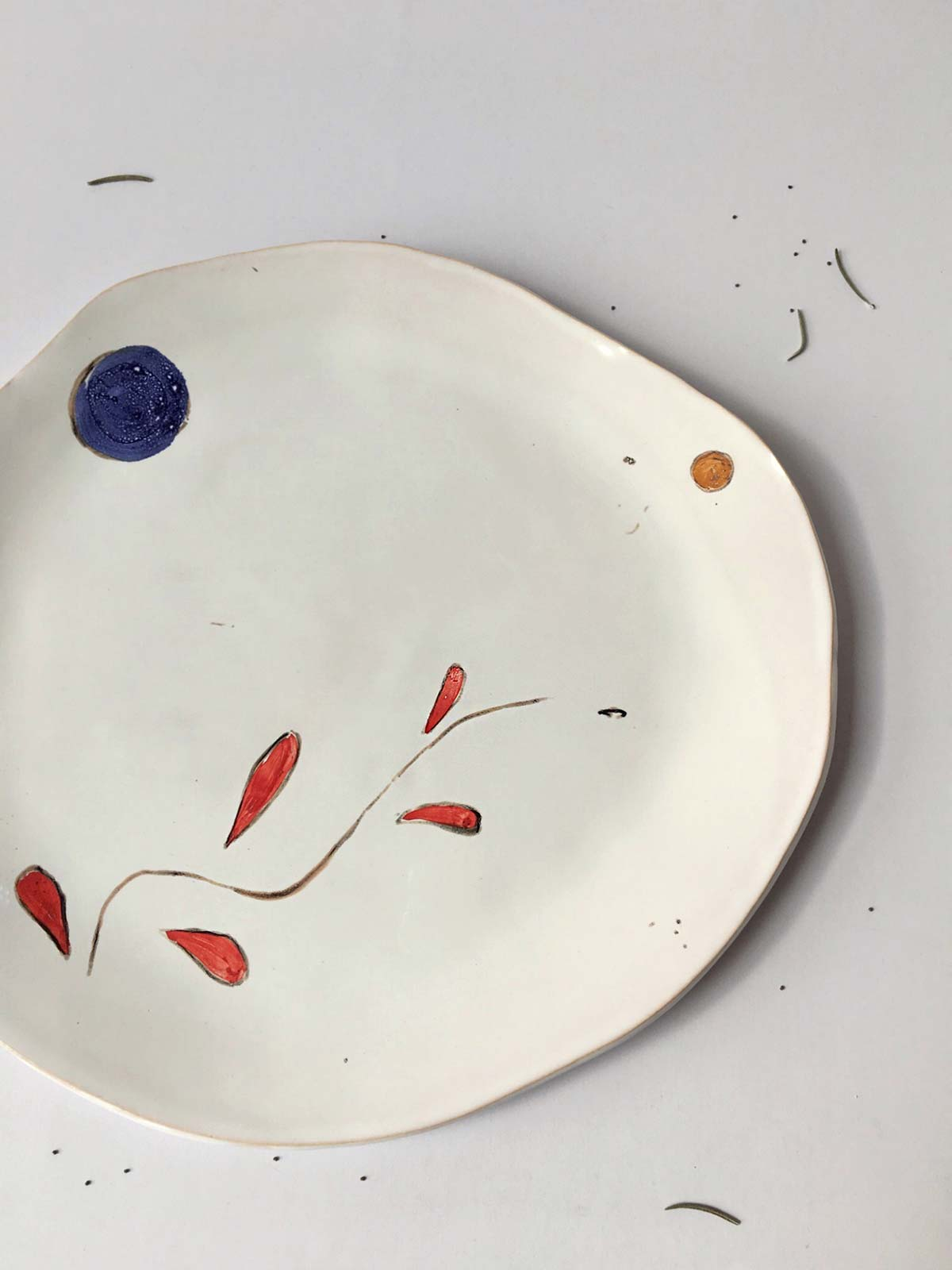 """Painting - Flat plate """"Composition No. 6"""""""