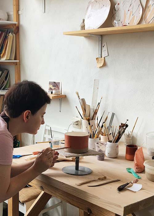 Master class on clay modeling - our students and clients
