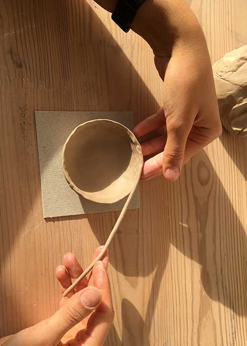 Individual handmade master-class of ceramic products