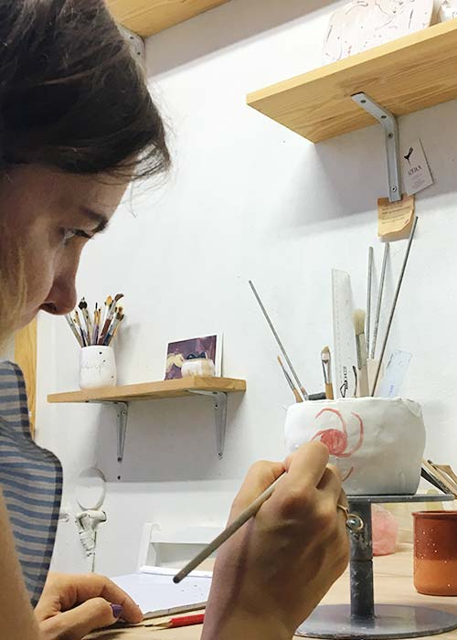Lesson training course on ceramics - our students and clients