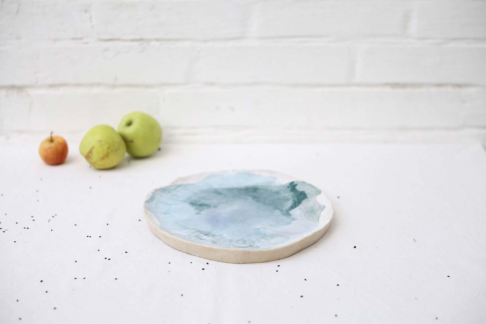 Вигляд збоку - Велика декоративна тарілка з кераміки (Ручна робота)