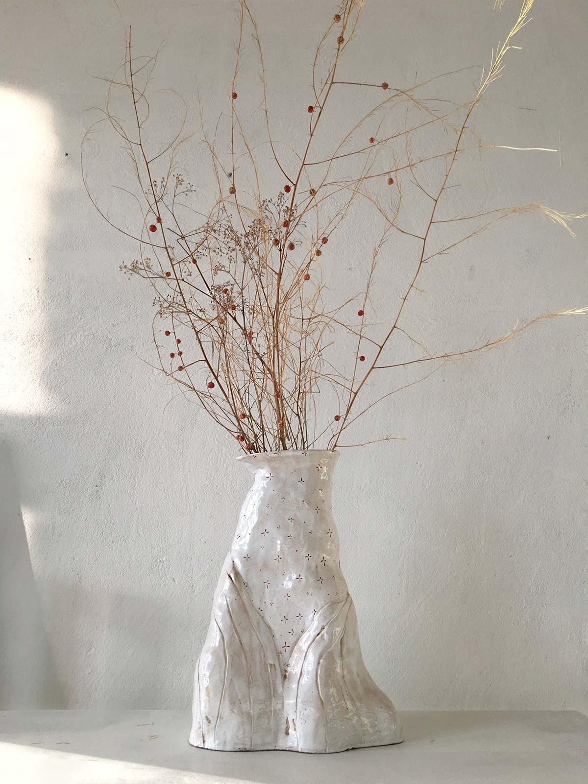 Велика декоративна ваза ручної роботи