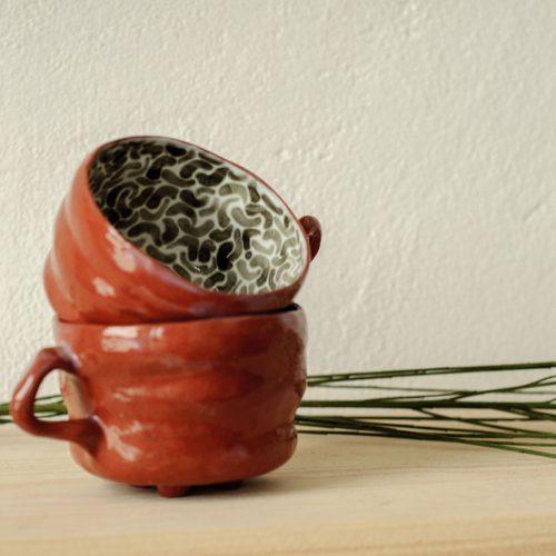 Декоративні чашки з кераміки - Колекція «Дежавю №2» (Ручна робота)