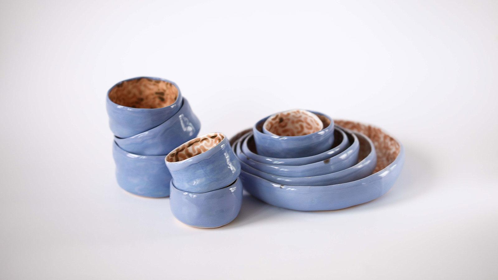Декоративні керамічні тарілки і піали - Колекція «Дежавю» (Ручна робота)