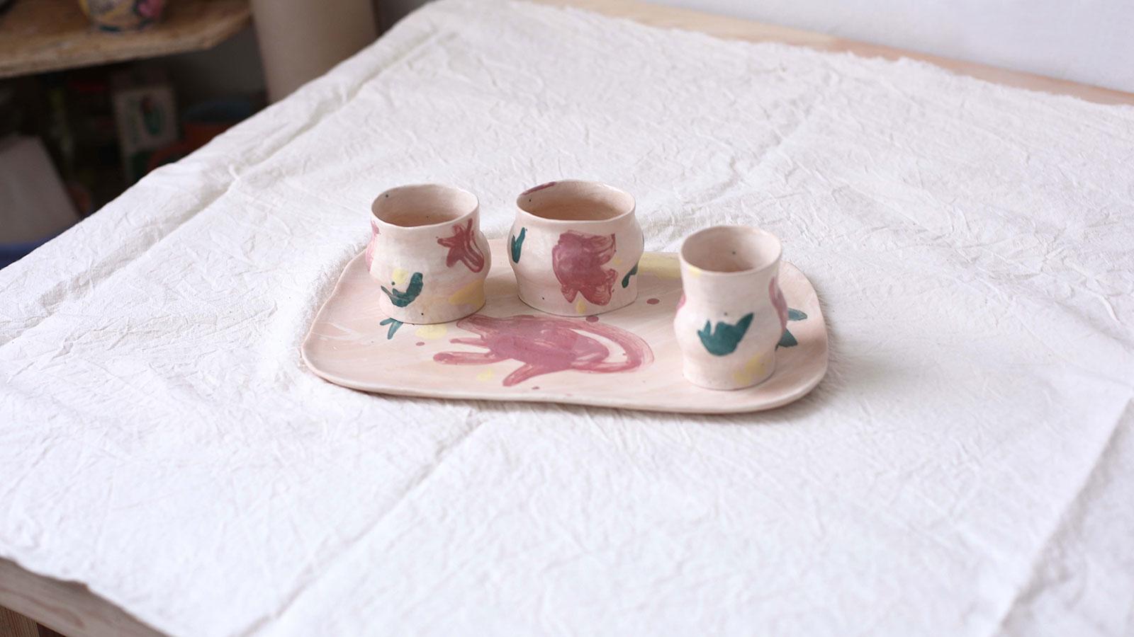 Декоративний набір посуду «Невимушеність №2» (Художня кераміка)