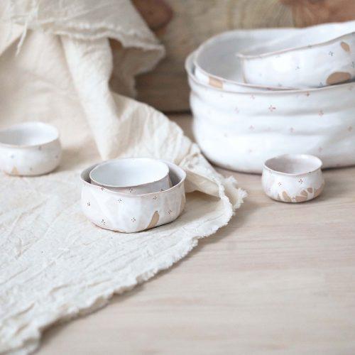 Колекція посуду «Квіти з молоком»