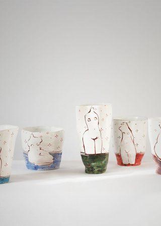 Серія декоративних склянок «Оголені» (Художня кераміка)