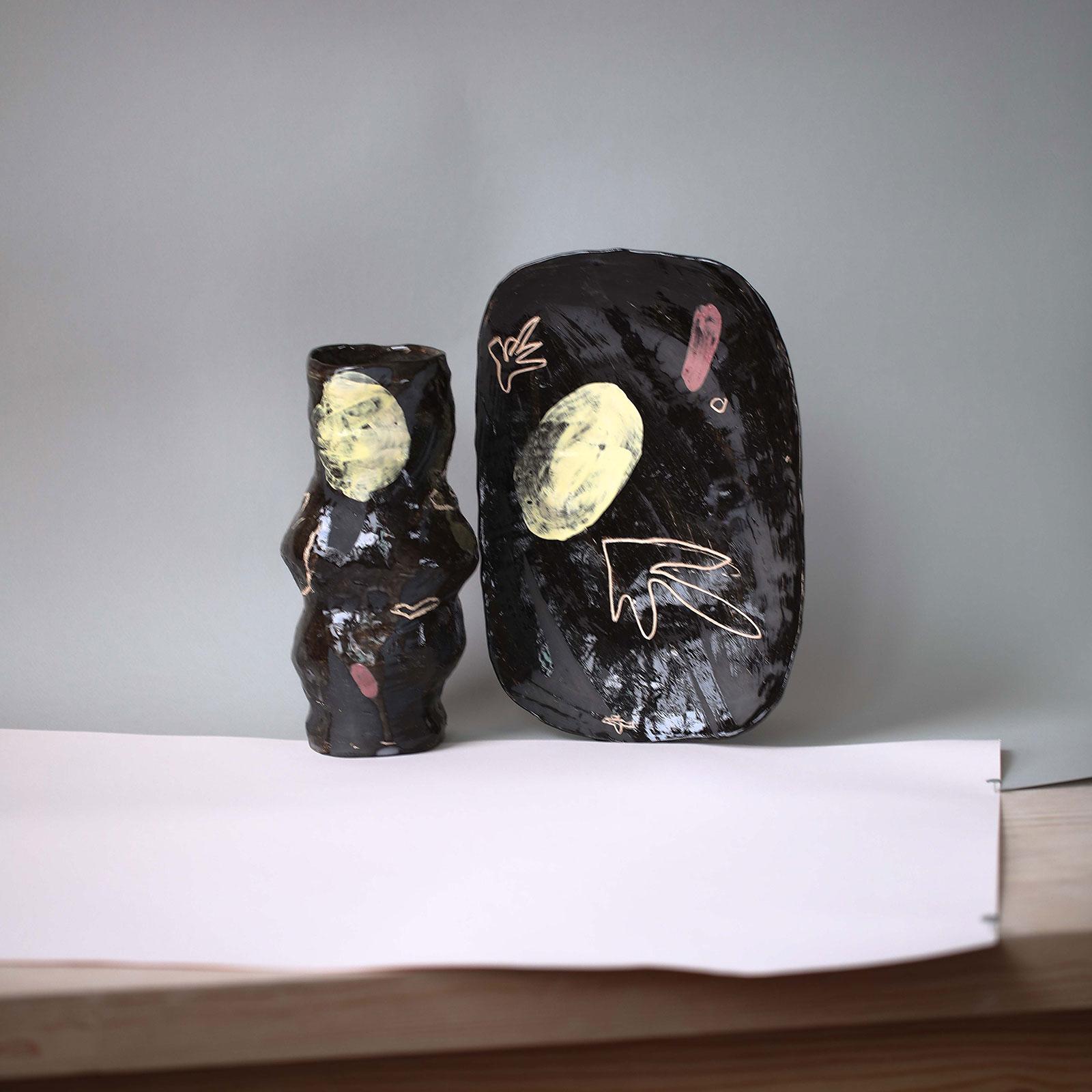 Декоративний набір виробів «Невимушеність» (Художня кераміка)