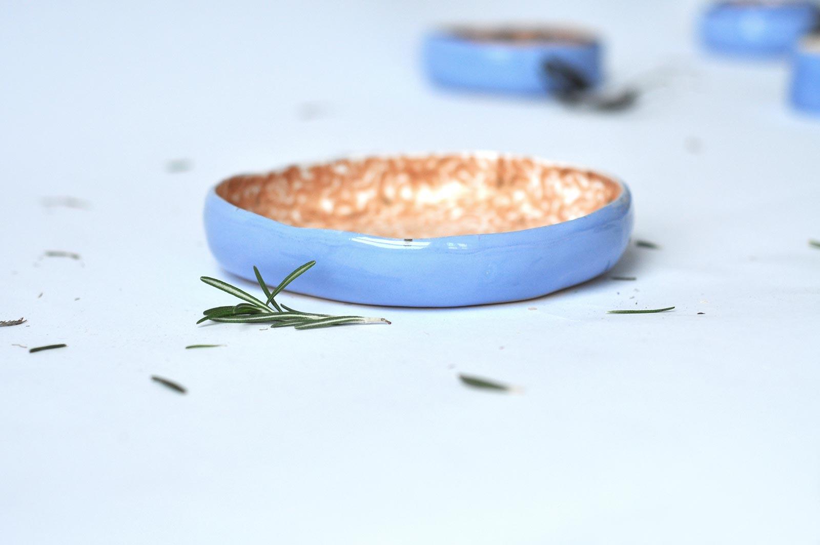 Глибока керамічна тарілка (Ручна робота)