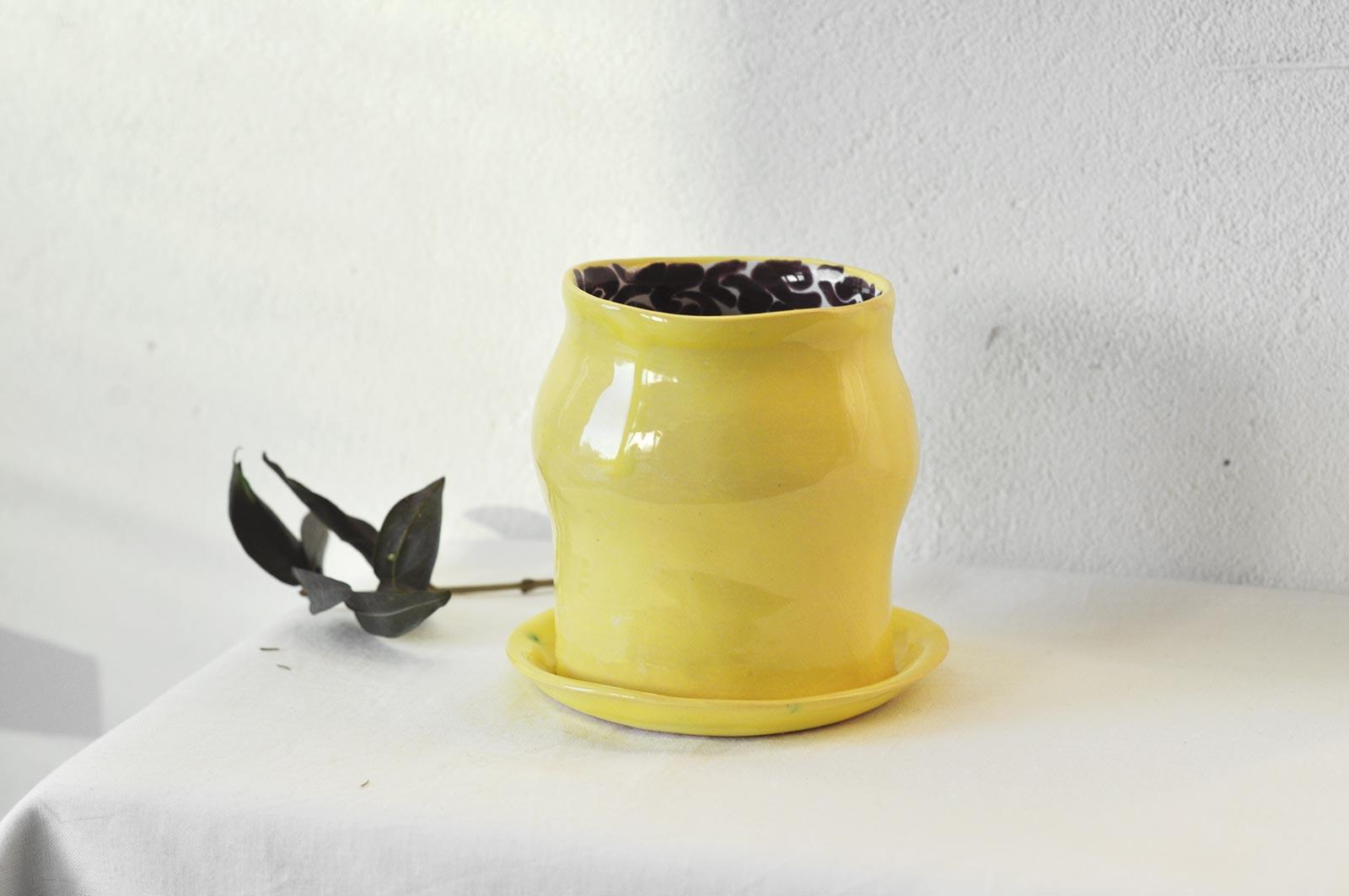 Декоративний стакан з блюдцем (Ручна робота)