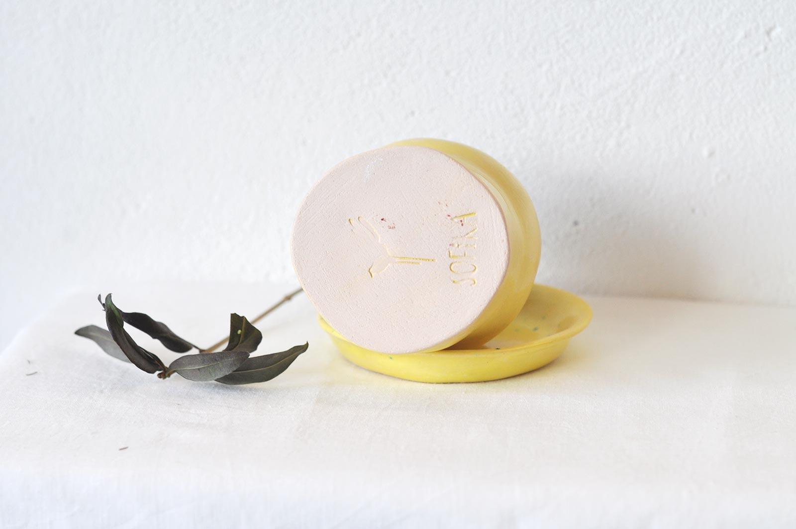 Вид ззаду - Декоративний керамічний стакан (Ручна робота)