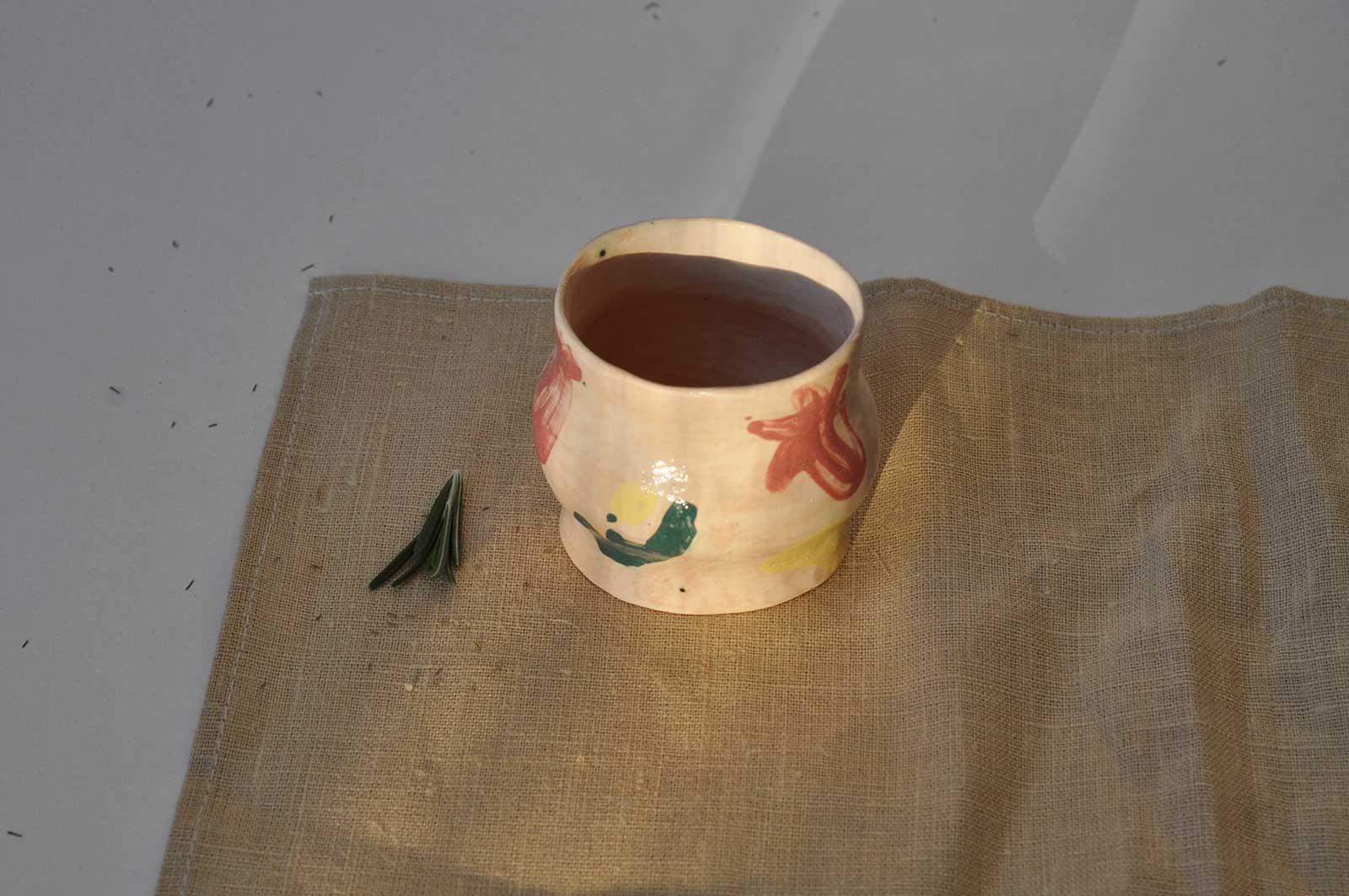 Декоративний стакан з набору «Невимушеність №2» (Ручна робота)