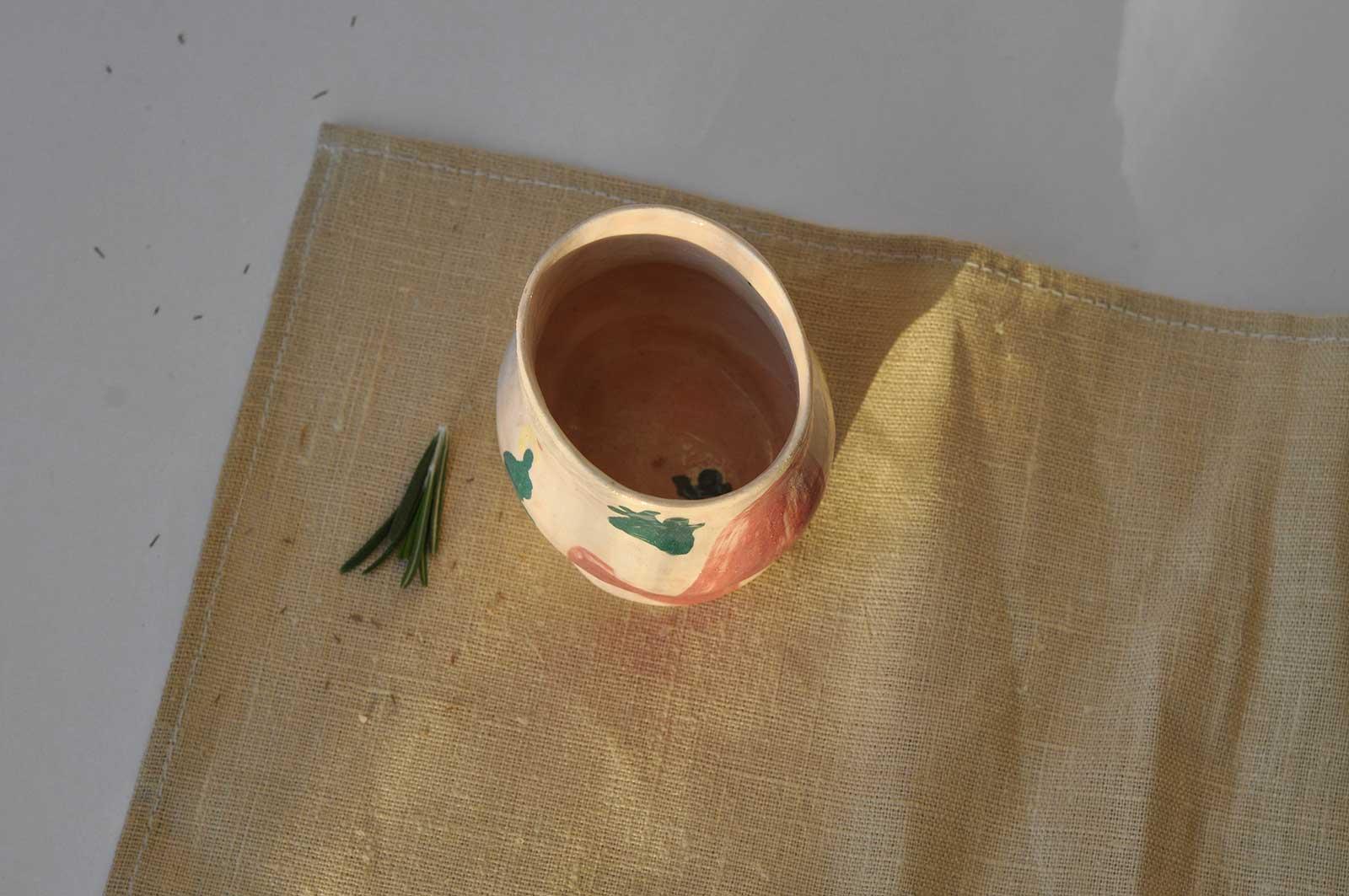Вид спереду - Декоративний стакан з набору «Невимушеність №2» (Ручна робота)