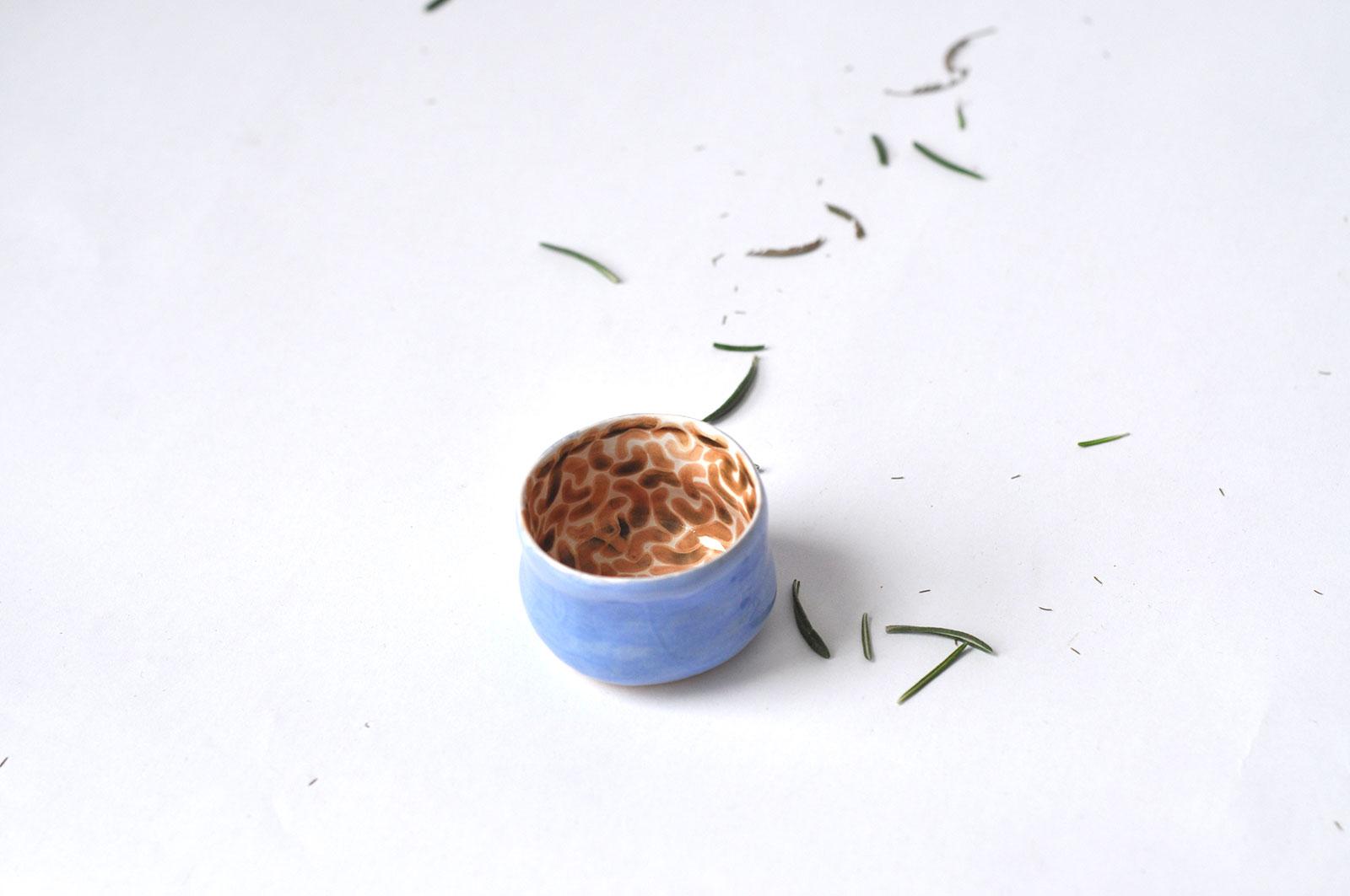 Вид збоку - Соусник з кераміки (Ручна робота)