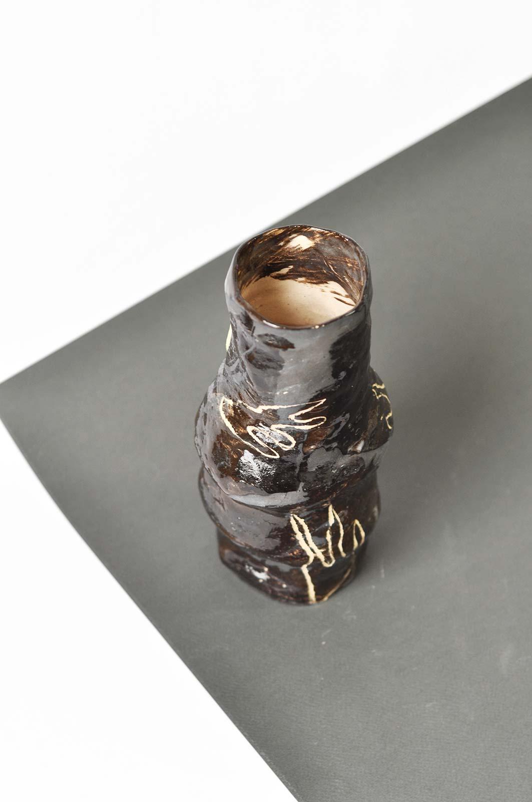 Вид зверху - Декоративна ваза для квітів (Ручна робота)