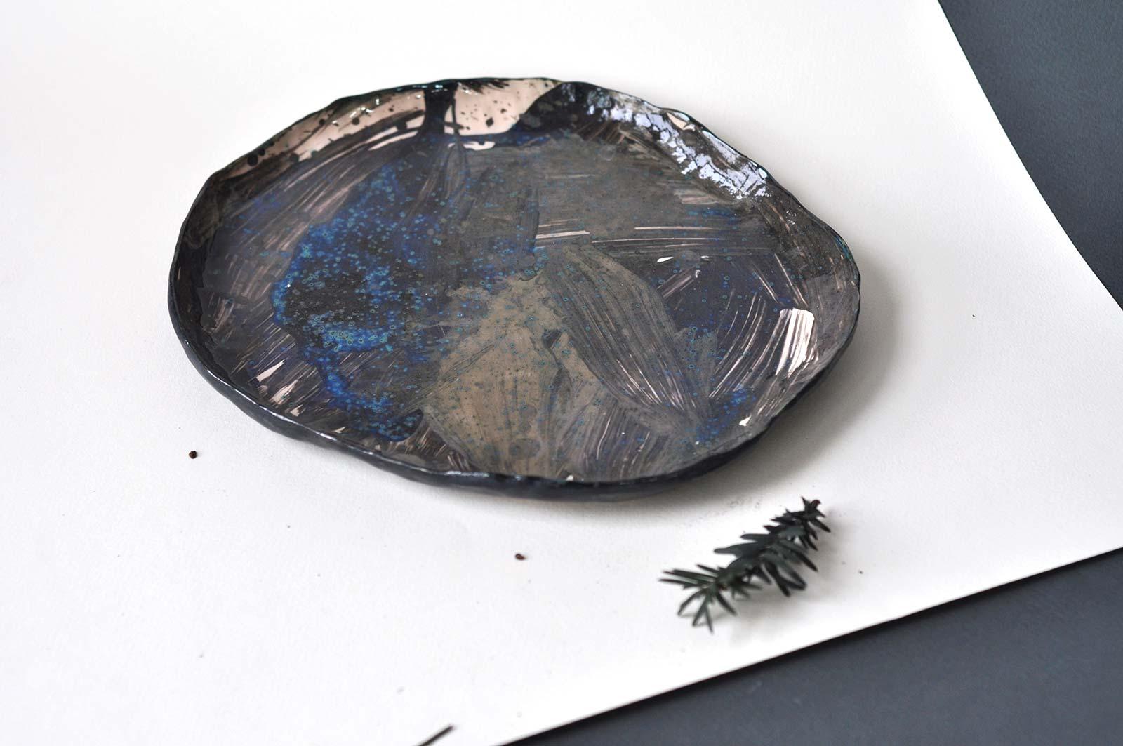 Керамічна декоративна тарілка (Ручна робота)