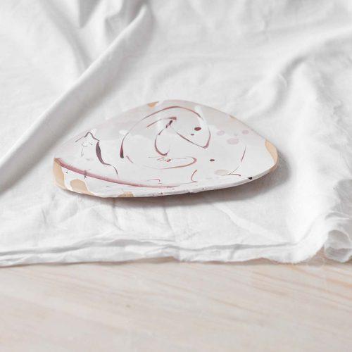Вид збоку - Плоска декоративна тарілка (Ручна робота)