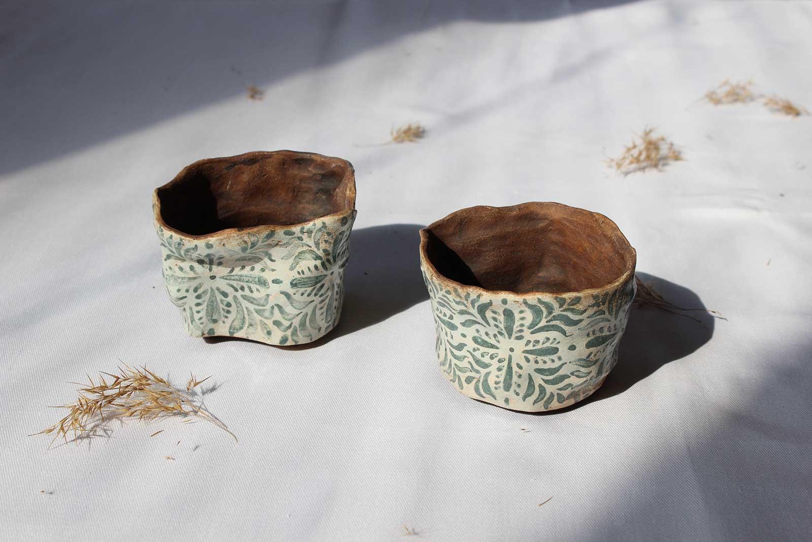 Вид збоку - Декоративні горщики для квітів (Ручна робота)