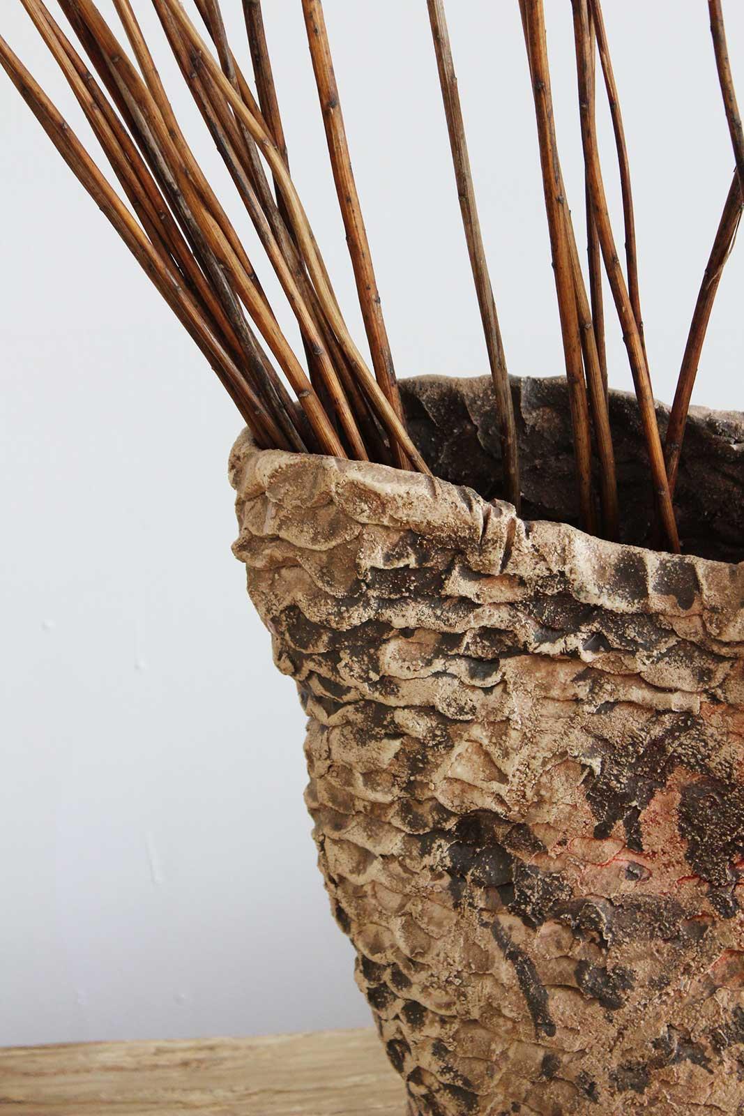 Вид збоку - Велика декоративна ваза з кераміки (Ручна робота)