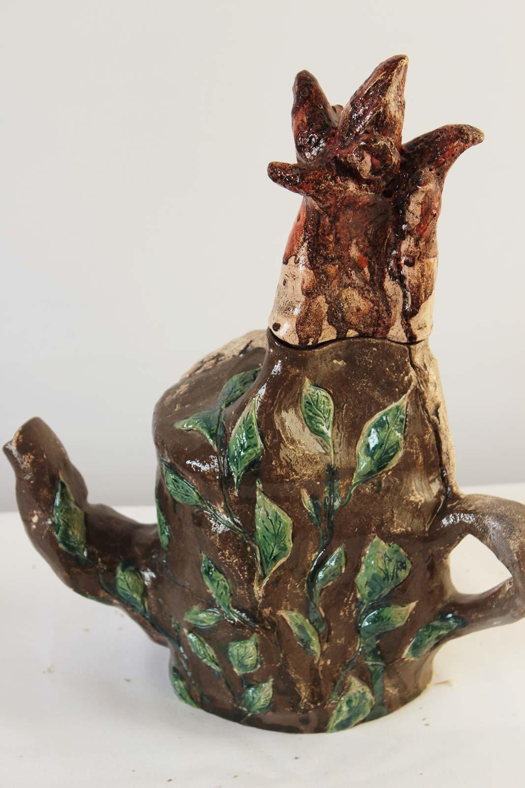 Вид ззаду - Декоративний чайник (Ручна робота)