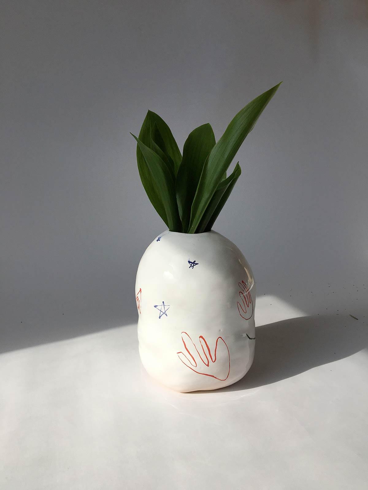 Вид ззаду - Декоративна ваза для квітів (Ручна робота)