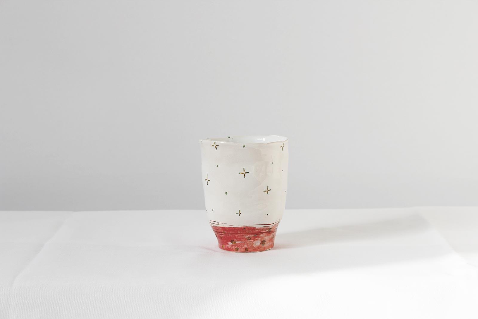 Вид ззаду - Стакан з кераміки (Ручна робота)