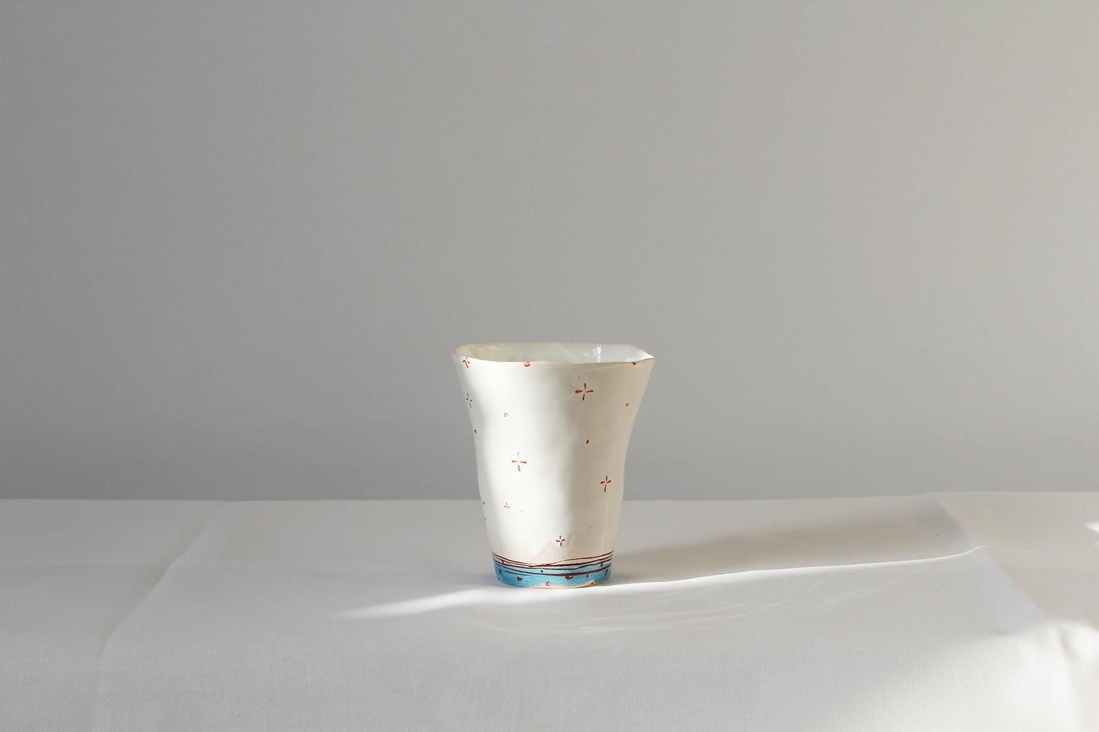 Вид ззаду - Cтакан з серії «Оголені» (Ручна робота)