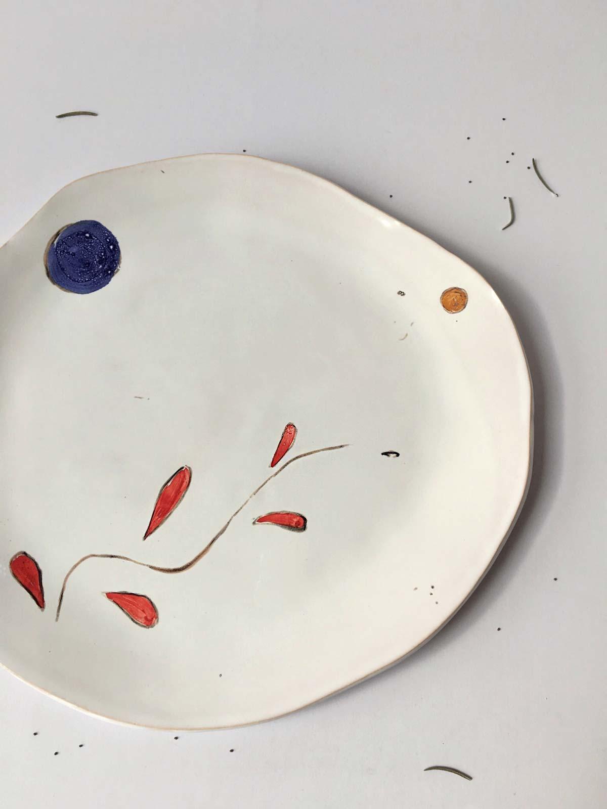 Малюнок - Плоска тарілка «Композиція № 6»
