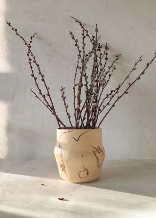 Кашпо для цветов из керамики