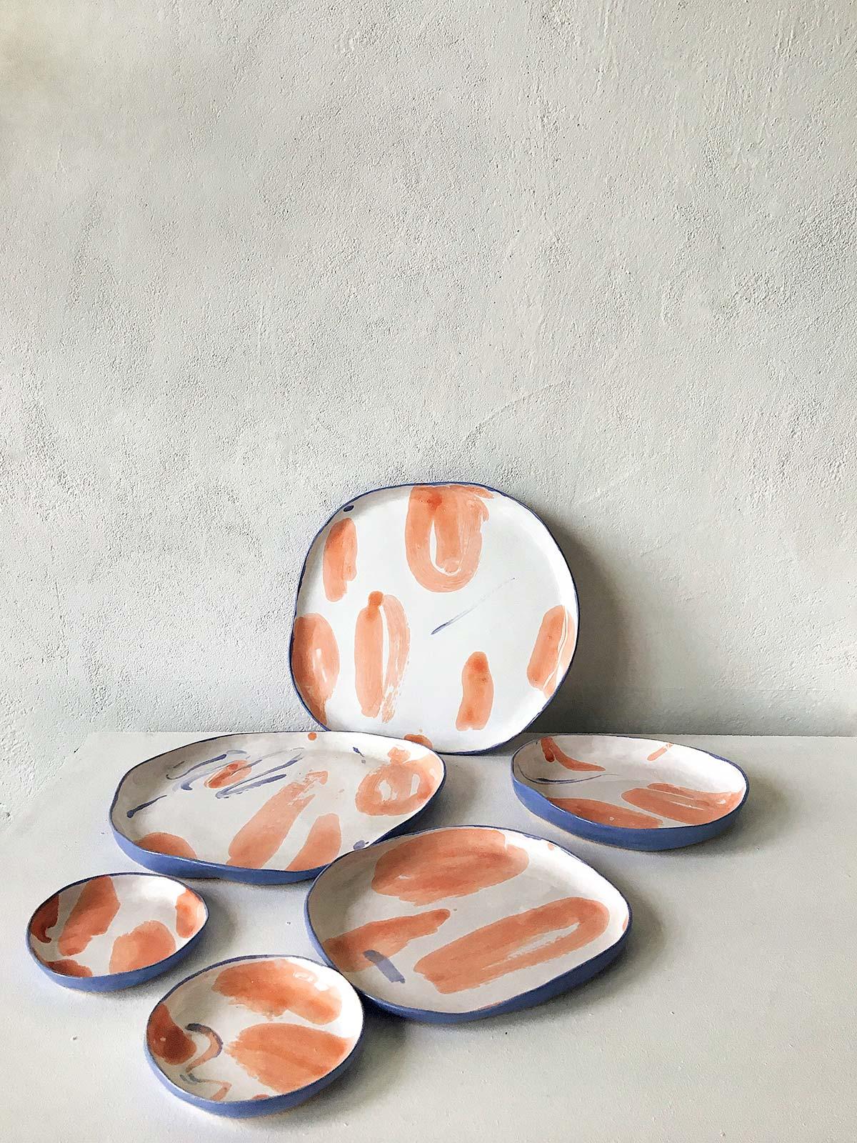 Набор керамических тарелок «Апельсины»